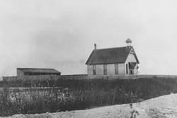 A One Room School House on Toronto Island (1888)
